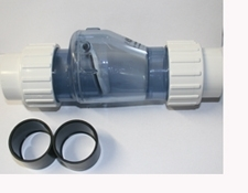 50mm Clear Check Valve with Union